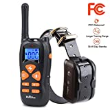 HICOBOS Dog Training Collar - Rechargeable Remote Shock Collar 1500FT IP67 Waterproof, 3 Effective Mode Beep, Vibration & Shock, Pet Safe 1-100 Level, 12s Auto Protection and 30 Day Standby (HC-A01)
