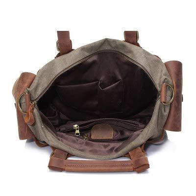 A Brown brown 25cm Mujer Adecuado Aprender Bolso 13 Wy Retro ayng Portatil Comprar Mochila Bandolera Para Bolsa De 37 Lona qwUOHFC