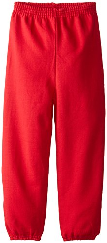 (Hanes Big Boys' Eco Smart Fleece Pant, Deep Red, Small)