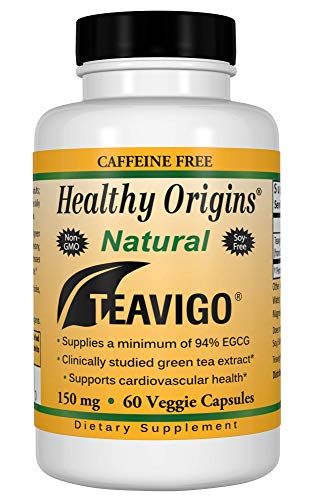 Healthy Origins Teavigo (94% EGCG) Green Tea, 150 Mg, 60 Veggie -