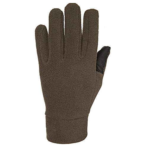 Lwj Adult Outdoor Plush Thick Anti-Skid wear Layer Fleece Gloves (Color : Brass, Size : S) ()