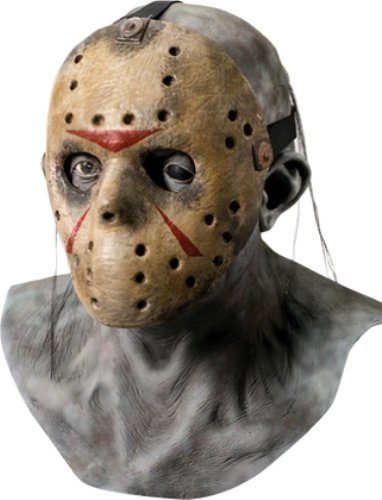 Rubie's Adult Jason Overhead Latex Deluxe Mask with Removable PVC Hockey Mask - Multicolored - One (Hockey Mask Halloween Costume)