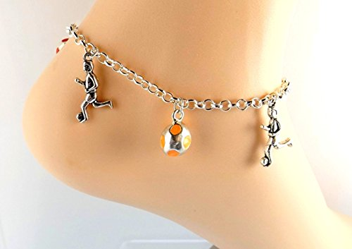 Anklet Soccer (For the Soccer Player In Your Life Anklet -Silver-tone Sports Ankle Bracelet)