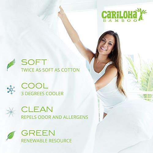 Cariloha Classic Bamboo Sheets 4 Piece Bed Sheet Set