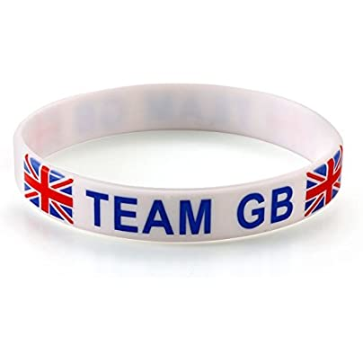 Komonee Team Great Britain White Olympics Silicone Wristbands Pack Estimated Price £4.99 -