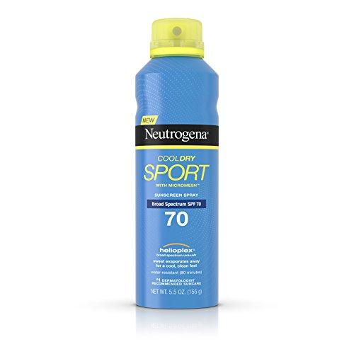 Neutrogena Cooldry Sport Sunscreen Spray Broad Spectrum SPF 70, 5.5 Oz
