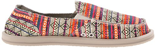 Olive Multi Tribal Tribal Stripe Sanuk Women's Donna Flat fRnWcI4c