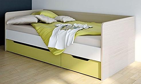 Wellemöbel Unlimited Jugendbett mit Bettkasten 90x200 oder 100x200 ...