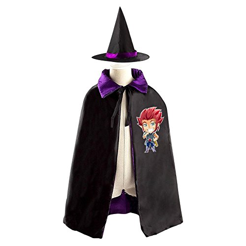 Mumm Ra Fancy Dress Costume (DBT Cartoon ThunderCats Childrens' Halloween Costume Wizard Witch Cloak Cape Robe and Hat)