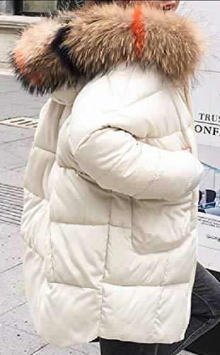Lungo Inverno Con Disposizione Delle Donne Ispessiscono Parka Soprabito Puffer Piumino Pelliccia Bianco Cappuccio Della Gocgt v4xdFw1WAv