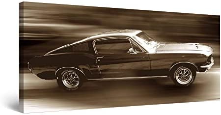 Startonight Canvas Wall Art Ford Mustang