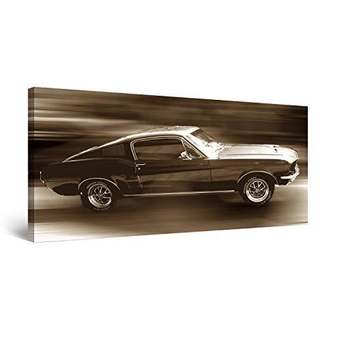 STARTONIGHT Canvas Wall Art Ford Mustang, Cars Framed Wall Decor 24