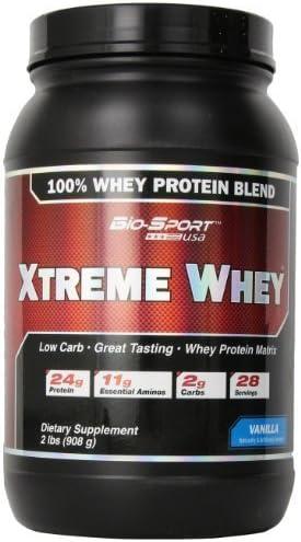 Bio-Sport USA Xtreme Whey, Great Tasting Low Carb 100% Whey ...