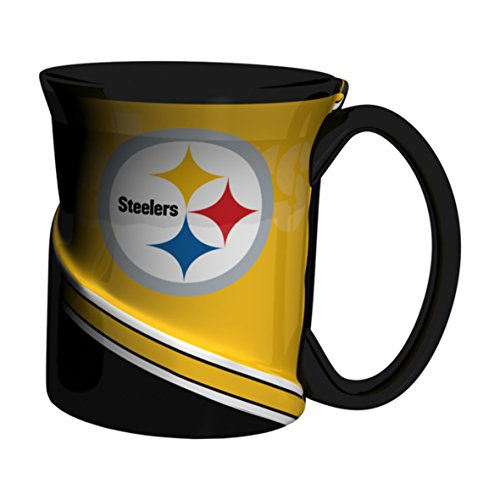 (NFL Pittsburgh Steelers Twist Mug, 18-ounce, Black)