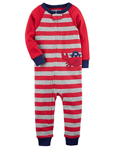 Carter's Baby Boys' 1-Piece Snug Fit Footless Cotton Pajamas (18 Months, Crabby) ()
