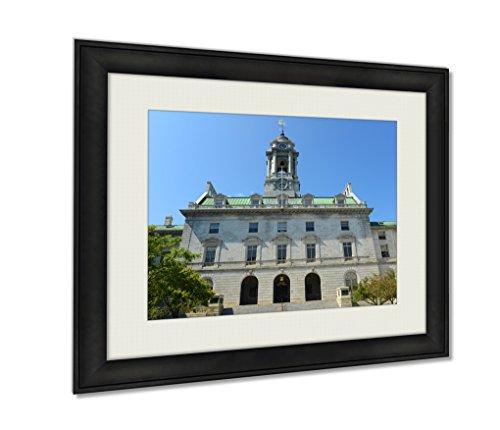 Ashley Framed Prints, Portland City Hall Maine Usa, Black, 16x20 (Portland City Hall)