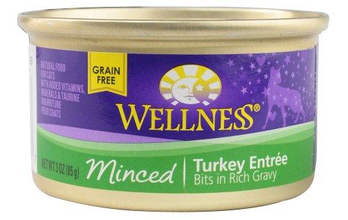 Wellness Cat Food Minced Turkey Entree, Turkey EntrTe 3 oz