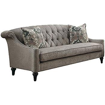 Amazon.com: Acme muebles 52865 Colten sofá, gris: Kitchen ...