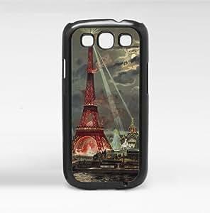 Colorful Paris Art Hard Snap on Phone Case (Galaxy s3 III)