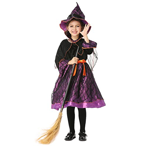 Slocyclub Child Cute Fairytale Witch Party Costume for Age (Deadpool Costume Ideas)