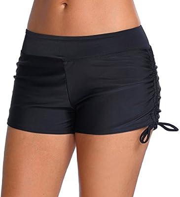 Imilan Women's Sport Swim Shorts Bikini Bottom Tie Side Swimsuits Boyshorts