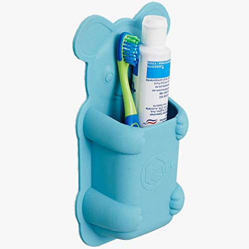 Tooletries 'For Kids' Koala Pouch - Animal Silicone Toothbrush Holder (Blue)