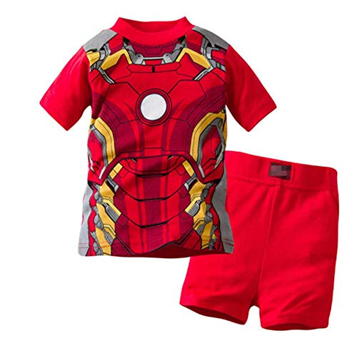 Iron Man Clothes For Kids - Boys Pajamas 100% Cotton Iron Man