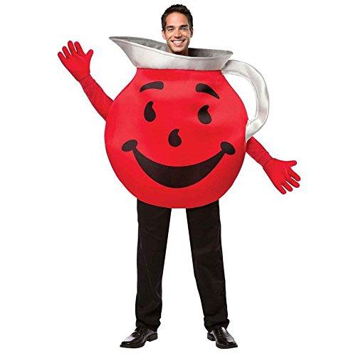 [Rasta Imposta Men's Kool Aid Guy, Red/Black/Silver, One Size] (Comical Halloween Costumes)