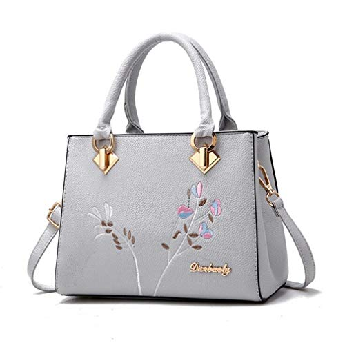 Bags Decoration Flowers Floral Hotsale Shoulder Lady Women Brand Blue Rivet Messenger Crossbody 21Club Fashion One Blue Purse Size Handbag Totes 15EwxZnpq