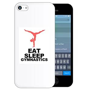 SudysAccessories Eat Sleep Gymnastics iPhone 5C Case- SoftShell Full Plastic Direct Printed Graphic Case