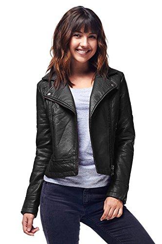 Wine Pu Faux leather Zipper Leather Biker Jackets (QPAD)