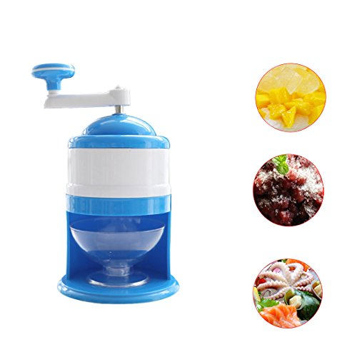 (Manual Smoothies Ice Crusher -ABS and Home handle portable ice machine Grinding Snow Cone Maker Machine Household Party DIY Ice Cream Candy Frappe)