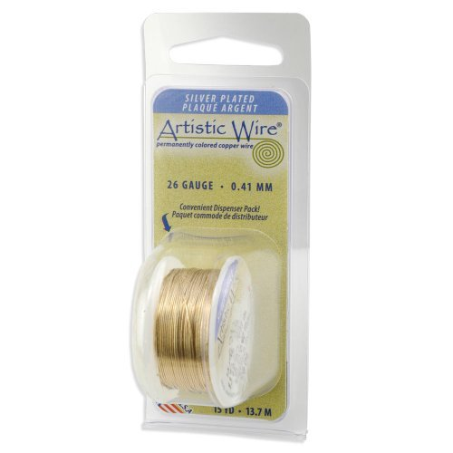 - Beadalon Artistic, 30 Gauge, Silver Plated Gold Color, 30 yd (27.3 m) Craft Wire,