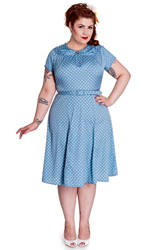 hell bunny blue polka dot dress - 6