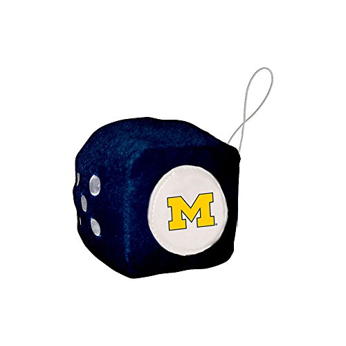NCAA Michigan Wolverines Football Team Fuzzy Dice, - Michigan Outlets Shopping