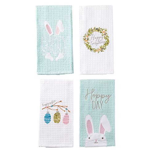 Mud Pie Waffle Weave Easter Guest Towels (Set/4)
