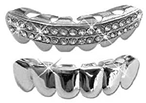 Amazon.com: Hip Hop Lower Teeth Silver Platinum Mouth ...
