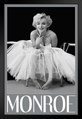 Pyramid America Marilyn Monroe Ballerina Hollywood Glamour Celebrity Actress Icon Photograph Photo Framed Poster 14x20 inch -