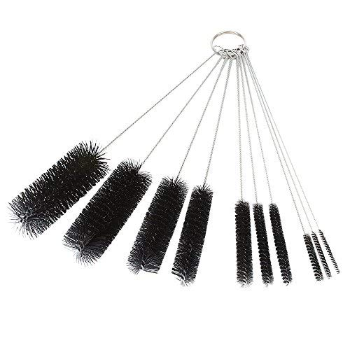 IETONE Nylon Test Tube Cleaning Brush Stainless Steel for Medical Mechanical Carburetor 10Pieces