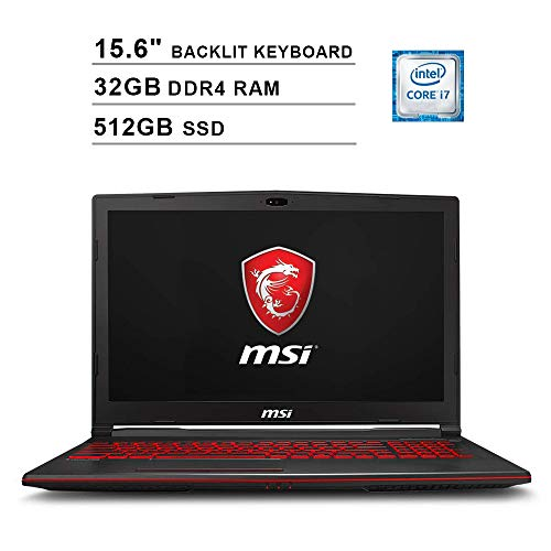 2019 Newest MSI GL63 15.6 Inch FHD Gaming Laptop (8th Gen Inter 6-Core