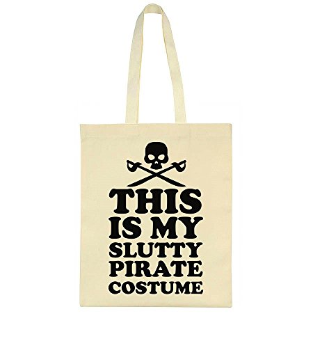 This Is My Slutty Pirate Costume Pirate Skull Design Tote Bag ()