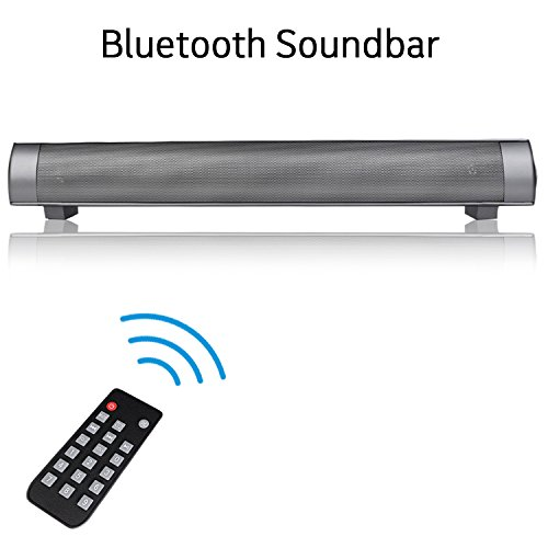 XBUTY Bluetooth Sound Bar Speaker, Wireless Ultra Stereo Speakers Portable 4.0 Echo HiFi SoundBar with 2000mAh Long-standby HD Sound Bass for PC/TV/Tablet