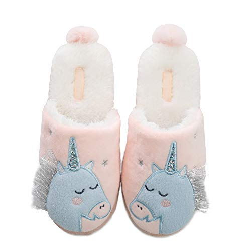 Womens Unicorn Slippers |Cute Funny Slippers for Family| Kids Girls Animal House Shoes
