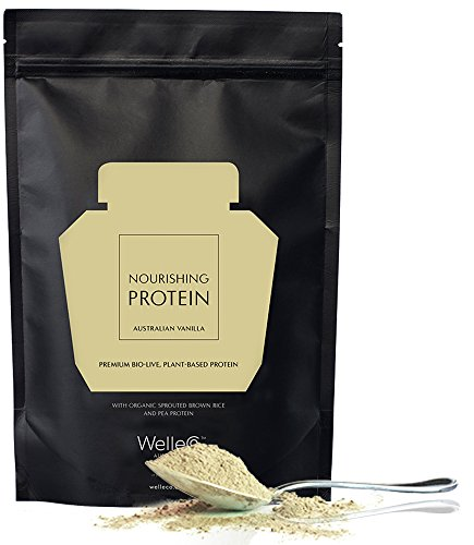 WelleCo - All Natural/Vegan Nourishing Plant Based Protein Supplement (Vanilla   300g Refill Pack)