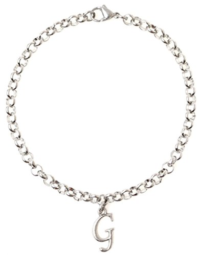 """Initial Additional Charms (It's All About...You! Adjustable 8.5"""" Stainless Steel Bracelet with Alloy Initial. Personalize with Clip on Charms (Letter G) 65G)"""