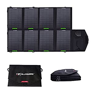 ALLPOWERS 28W Foldable Solar Panel Laptop Charger(5V USB with iSolar Technology+18V DC Output) Portable Charger for Laptop below 18V2A, Tablet, ipad, ipod, iphone, Samsung and More