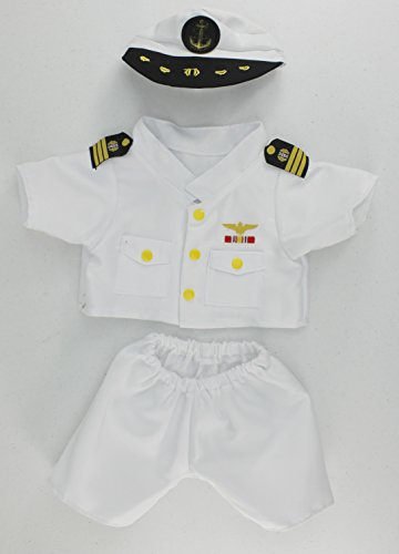 Navy Bear Teddy (Dear Baby Gear Animal and Outfit Collection Mix And Match, Navy Military Uniform Only)