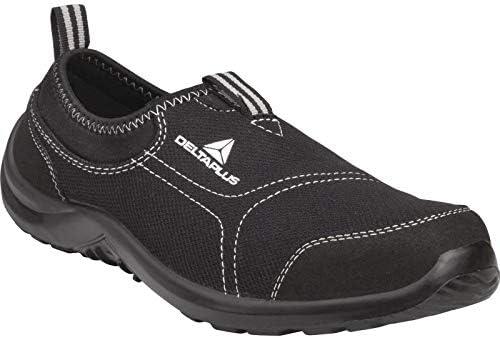 Delta Plus Panoply Miami S1P Negro lona en acero para zapatillas de seguridad Zapatillas