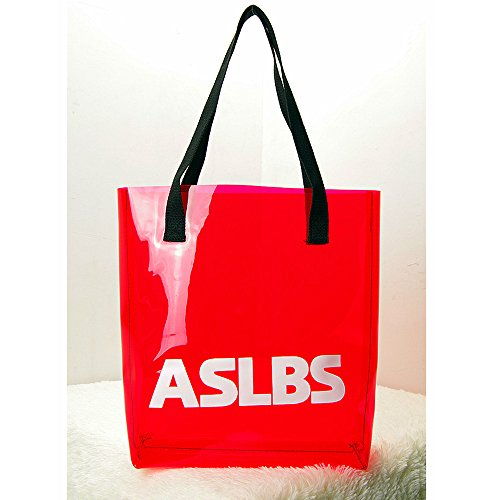PVC Summer Clear Red Satchel Candy Shoulder Tote Beach Bags Transparent Women Handbags UBqwFq