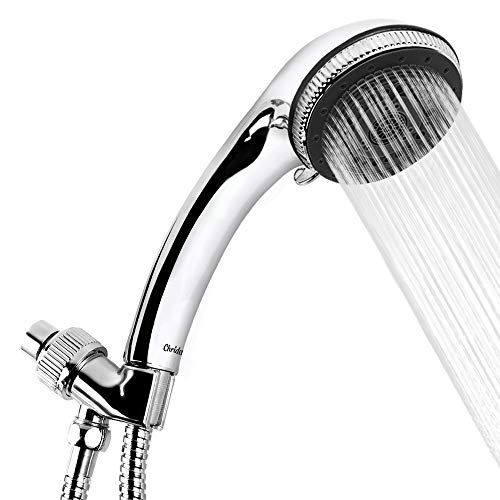 Chrider Handheld Shower Head with Hose, 7 Spray Settings Hand Held Shower Head, 3.2'' High Pressure Showerhead, 60'' Extra-long Stainless Steel Hose, Adjustable Mount, Chrome Handle Finish by Chrider